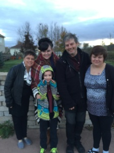 Half of the fam who braved the cold