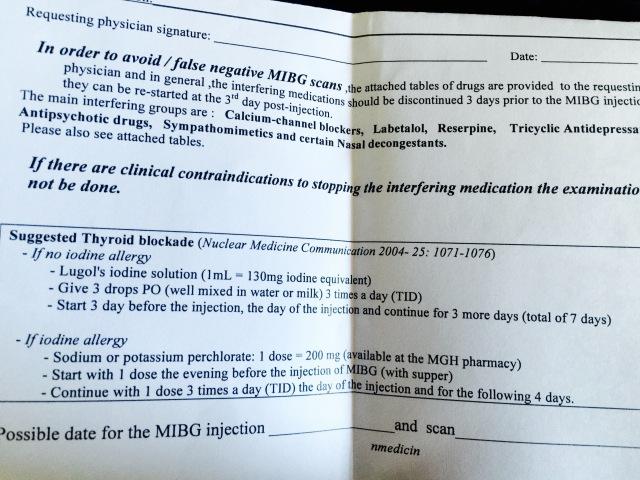 mibg & iodine allergy | pheo vs fabulous, Skeleton